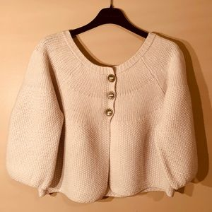 Free People - cropped sweater / cardigan (Size M)
